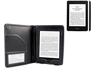 Navitech Black Premium Executive Leather Flip Folio Book Style Carry Case For The Amazon Kindle Paperwhite & Kindle Paperwhite 3G 6 Inch