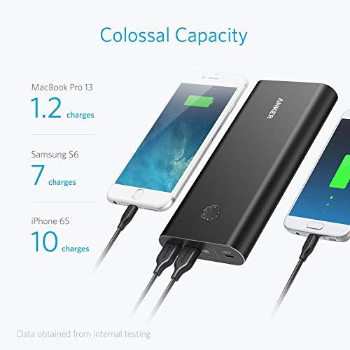 Anker Powercore + 26,800mAh Powerbank mit Power Lieferung, USB Externer Akku unterstützt Schnelle Aufladen und 30W Ausgang für MacBooks