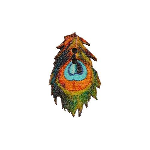 Eerafashionicing Women's Wood Peacock Shape Buttons for Kurtis