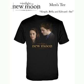 Warner Music Shirts Twilight New Moon Simple Bella & Edward Men's T-Shirt , Black, Large
