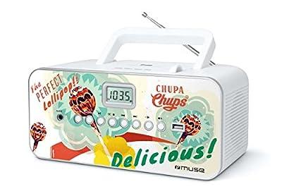Muse M de 28CC Chupa Chups Portable Radio avec Fonction CD/CD-R/CD-RW/MP3, Port USB, entrée AUX Multicolore de Muse