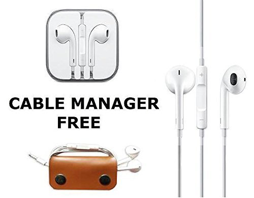 Techonto Earphones Handsfree Headphones Earpods With Mic And Volume Button For iPhone, Android Phones with 3.5MM Jack-White  available at amazon for Rs.100