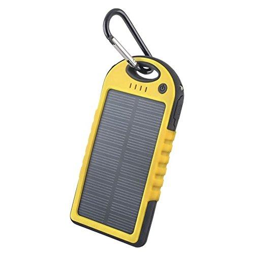 Acce2s - Batterie Externe Solaire 5000 mAh Waterproof pour DORO 8040 / 8042 - 6050 - 6530 - 6520 - Primo 413 - 8031 - Liberto 822 - Liberto 820 Mini - PhoneEasy 631 - Liberto 820 - PhoneEasy 632S - Liberto 810 - PhoneEasy 621 - Easy 612