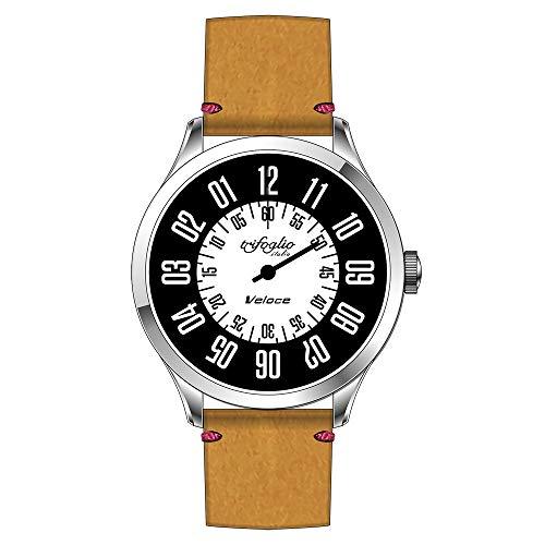 3a1f68592879 Trifoglio Italia Reloj automático analógico de Acero de Cuero Veloce