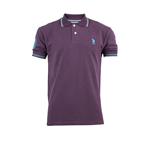 mens-us-polo-association-assn-short-sleeve-polo-shirt-small-pony-tipped-collar-x-large-purple