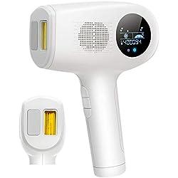 Epilatore a Luce Pulsata,Sistema IPL per Luce Pulsata,Punto di congelamento Apparecchio per la depilazione 400.000 Impulsi Luminosi,Depilazione Permanente Donne e Uomini per uso domestico