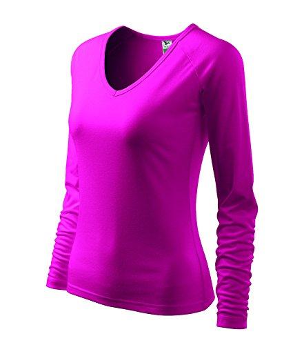 Damen T-Shirt Langarmshirt Raglan Elegance Himbeer