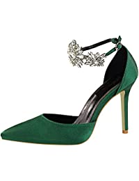 Y De Complementos Amazon es Zapatos Verdes Fiesta RTPq7
