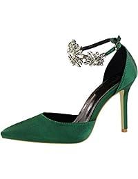 Tacones de Mujer, Mujer Elegante Tacón Alto Zapatos Apuntado Zapatos, Moda Tacones Finos Boda