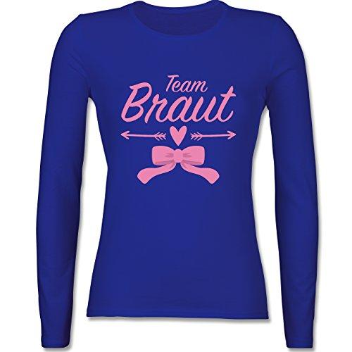 JGA Junggesellinnenabschied - Team Braut Schleife - tailliertes Longsleeve / langärmeliges T-Shirt für Damen Royalblau