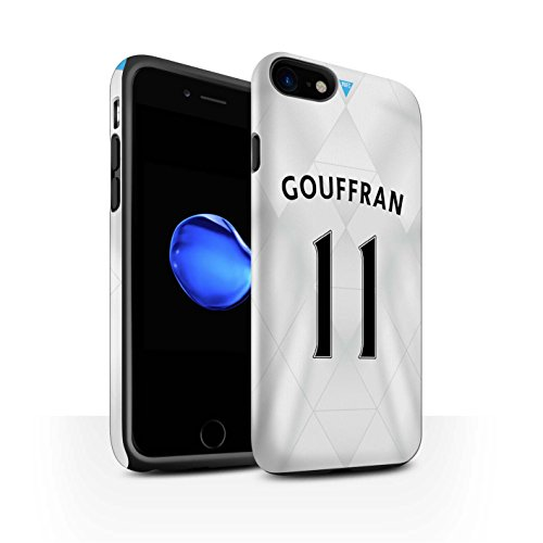 Officiel Newcastle United FC Coque / Matte Robuste Antichoc Etui pour Apple iPhone 7 / Saivet Design / NUFC Maillot Extérieur 15/16 Collection Gouffran