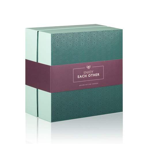 LoveBoxxx Sexspielzeug für Paare Erotik Geschenkbox LIEBESLEBEN, Überraschungsbox inkl. Vibratoren für die Klitoris, Vibro Ei, Cockring Vibrierend, Federkitzler, Augenmaske, Würfel & Beutel