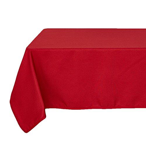 Deconovo Massiv Wasser Beständig Tischdecke Hohen Dichte Oxford Stoff Tischdecke 60W x 84L inch Rot (60 Stoff X Tischdecke 84)
