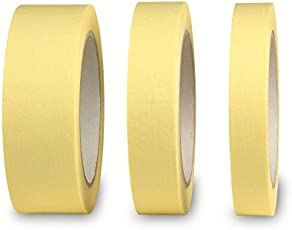 Baumarkt CE96009750 Flachkrepp-Set, 3-TLG 18/24/36mmx50m, Mehrfarbig
