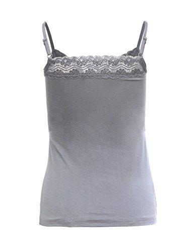 Ma Coquette Damen Schlauch T-Shirt Grau