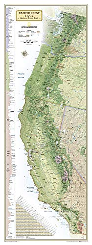 Pacific Crest Trail Wall Map (National Geographic Reference Map) -