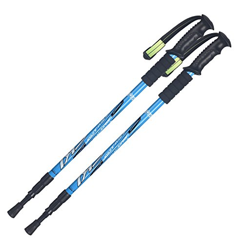YAXIAO Wanderausrüstung des Wanderstocks Im Freien Im Freien Trekkingstock- (Color : Blue)