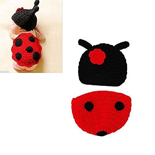 Hrph Säuglingstierkostüm weiche handgemachte gestrickte Newborn Wolle Crochet Käfer Fotografie Props (Baby Schildkröte Kostüm Crochet)
