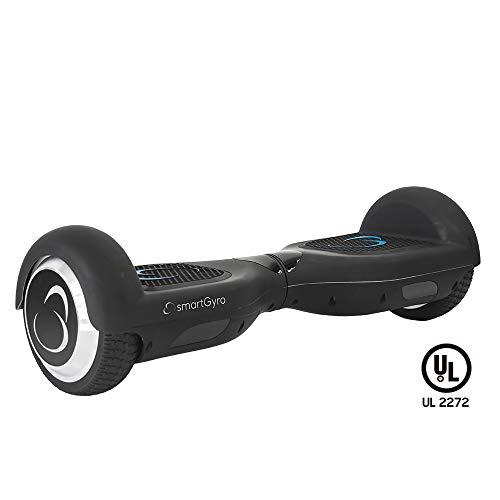SmartGyro X2 UL - Patinete Eléctrico Hoverboard, Ruedas de 6.5' Antipinchazos, Potente Batería de Litio, Vel. Máxima 12 Km/h, Autonomía de 10 Km, Certificado UL, Color Negro