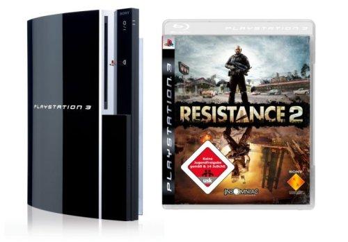 Playstation 3 - Konsole 80 GB inkl. Dual Shock 3 Wireless Controller + Resistance 2 (Ps3 80 Gb Konsole)