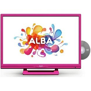 Alba 24 Inch HD Ready LED TV/DVD Combi with Freeview - Pink