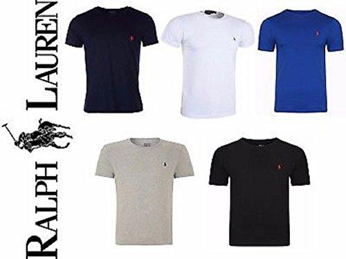 Ralph Lauren.Men's Custom Fit Crew Neck Short Sleeve T-Shirt