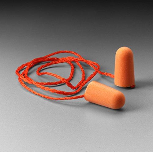 3M 1110 Corded Foam, Noise Reduction Ear Plugs (Pack Of 10),orange