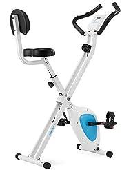 Klarfit X-Bike XBK-700 PRO • ergometro • Bike Fitness • Cardio Bike • Training Computer • misuratore Integrato per Il Polso • Resistenza Regolabile 8 stadi • Max. 100 kg di Peso corporeo • Bianco-Blu