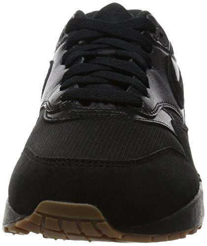Nike Air Max 1 Essential, Baskets Basses femme Noir - (Black/Black-Gum Med Brown)