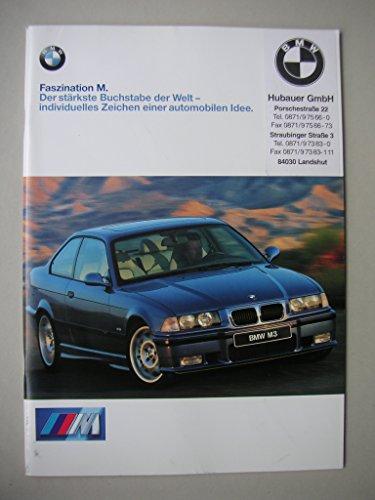 Prospekt BMW Faszination M. Der stärkste Buchstabe der Welt - individuelles Zeichen einer automobilen Idee