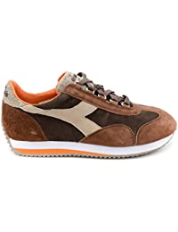 Diadora Heritage Uomo Trident C Dyed Brogue Pelle Canvas Sneakers ... fadde12a7f1
