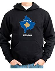 Kosovo Country Map Color Hoodie