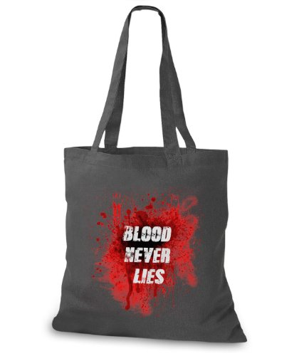 StyloBags Jutebeutel / Tasche Blood Never Lies Darkgrey
