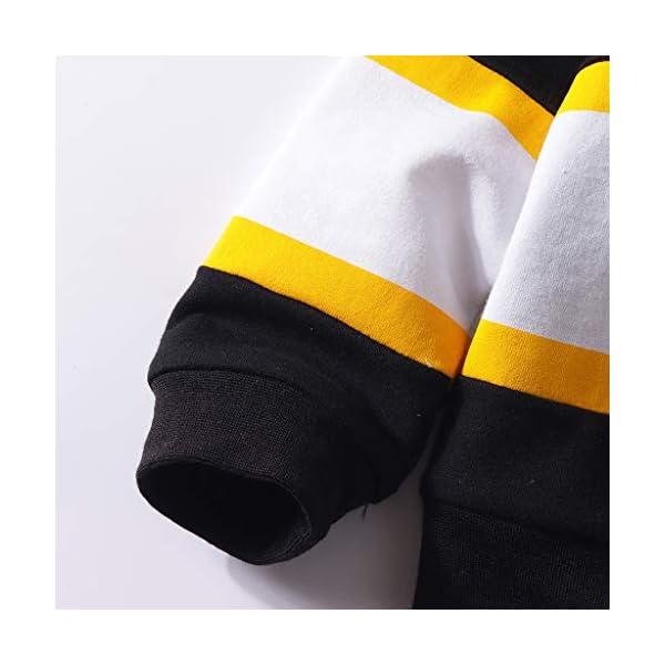 Tefamore Conjuntos Ropa Bebé Niños Moda Patchwork Rayas Camiseta Tops + Pantalones Conjuntos 5