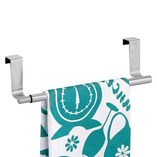 InterDesign 29360EU Forma erweiterbarer Handtuchhalter um an die Türe zu hängen, aus gebürstetem edelstahl - Garage 2 Tür Hängen