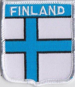 Bandera de Finlandia parche bordado A171