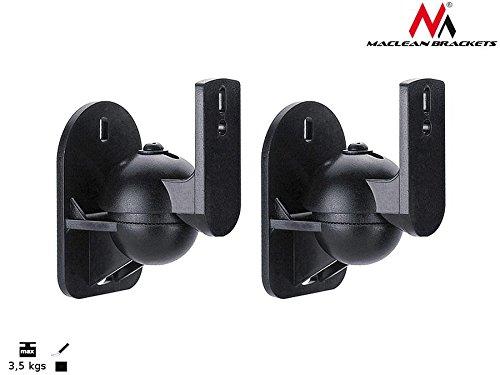 Maclean - Mc-526 2 soportes de pared para altavoces (2 unidades, soporta...