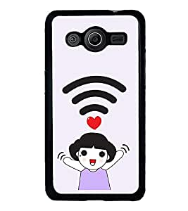 Vizagbeats Wifi Girl Love Back Case Cover For Samsung Galaxy Core 2
