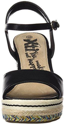 Xti 046766, Plateforme Femme Noir (Black)