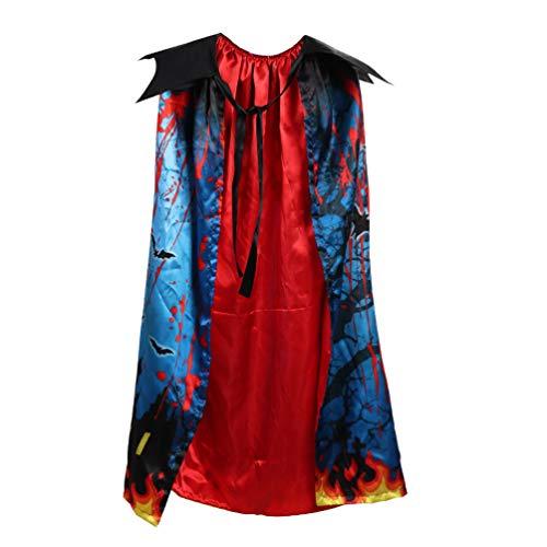 König Kostüm Cape Mittelalterlicher - Amosfun Halloween mantel druck kreative kinder party zubehör cosplay kostüm cape für karneval maskerade 1 stück
