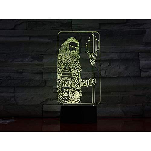 Optische Täuschung Lampe Nachtlicht USB 3d LED Cartoon Superheld Jungen Kind Kinder Gerechtigkeit Liga Tischlampe Touch-Schalter
