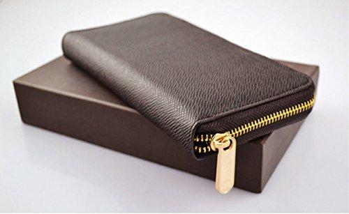Da uomo/Da donna in pelle PU a portafoglio frizione borsa Portafoglio Cards denaro blu BLUE Länge: 16cm, Breite: 9cm, Dicke�?,5cm BROWN