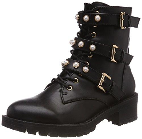 Bianco Damen Pearl Biker Boots, Schwarz (Black 100), 36 EU