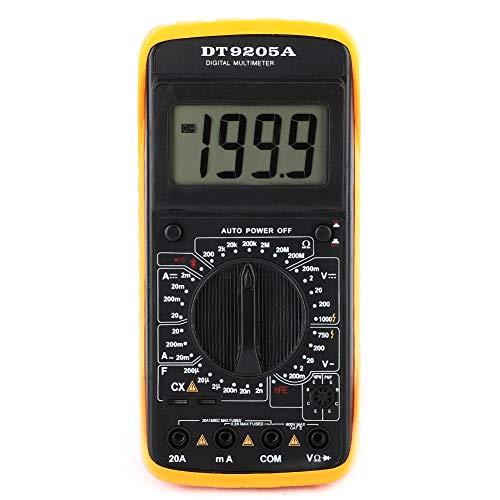 Akozon Digital Multimeter DT-9205A Handheld LCD Digital AC/DC Volt Amp Ohm Amperemeter Kapazität Hz Tester 1999 zählt Daten halten Schlafmodus