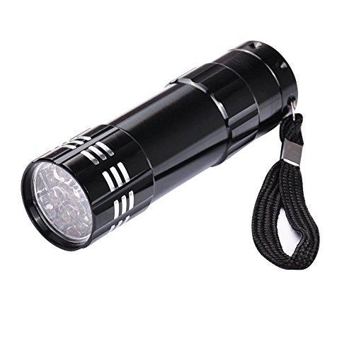Biutee Mini lampe de poche LED UV Lampe Séchoir à Ongles Outils à Ongles pour Nail Art Gel UV LED Lampe de Poche avec 9 LED