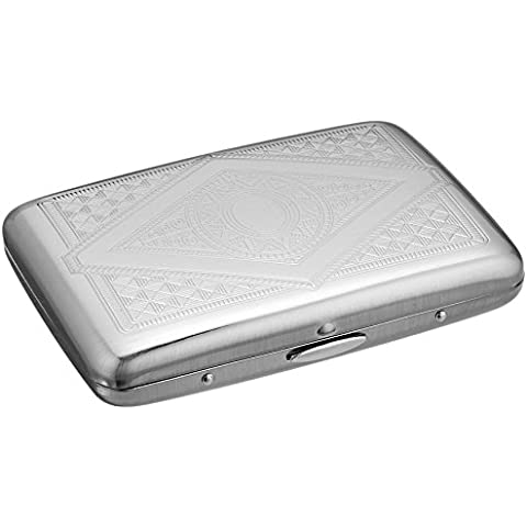 Credit Card Holder - Silver Stainless Steel RFID Blocking Credit