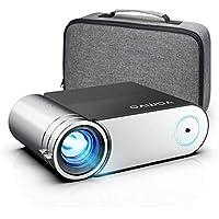 """Videoprojecteur Vamvo 200"""" 5800 Lumens Supporte 1080P Full HD Projecteur, Portable Multimédia Home Cinéma Retroprojecteur, Mini Projecteur Vidéo Compatible HDMI VGA AV TF USB PS4"""