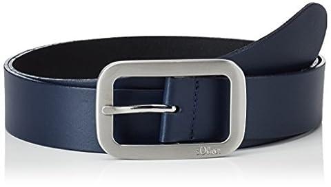 s.Oliver Damen Gürtel 38899953635 Blau (Blue 5884), 85(Herstellergröße:85)