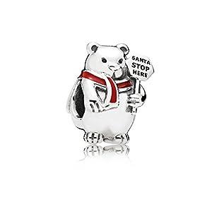 PANDORA 796466EN39 Weihnachts-Polarbär Charm
