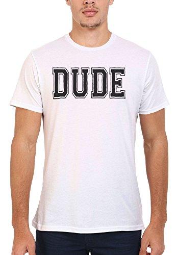 Dude Friend Mate Forever Cool White Weiß Men Women Damen Herren Unisex Top T-shirt Weiß